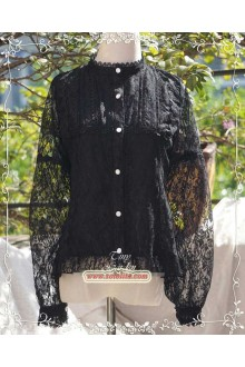 Tiny Garden Garden of All Things Retro Elegant Long Sleeves Chiffon Lace Lolita Blouse