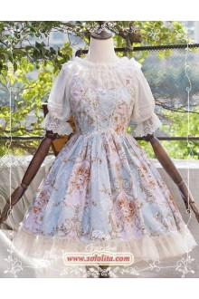 Tiny Garden Victoria Rose Lace Classic Lolita Strap Suspender JSK Dress