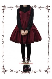Tiny Garden Wine Waltz Elegant Bow Autumn Winter Sweet Lolita Jumper JSK Dress