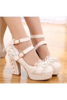 Sweet Princess Lace Bow Sweet Lolita Shoes 3 Colors
