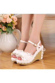 Sweet Princess Rose and Flowers Sweet Lolita Shoes