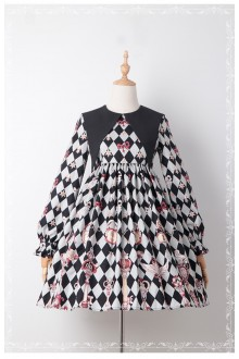 Royal Key Long Sleeves Sweet Lolita OP Dress