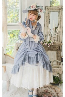 Camellia In Mirror Elegant Half Sleeves Sweet Lolita OP Dress