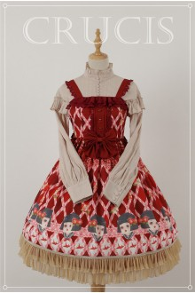 Red Four Color Doll Chiffon Sweet Lolita JSK Dress Version 1