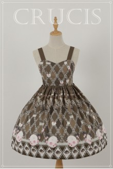 Brown Four Color Doll Chiffon Sweet Lolita JSK Dress Version 2