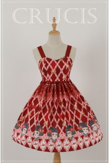 Red Four Color Doll Chiffon Sweet Lolita JSK Dress Version 2