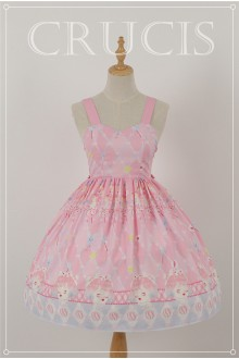 Pink Four Color Doll Chiffon Sweet Lolita JSK Dress Version 2