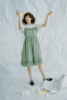 Sweet Jacquard Lolita Sleeveless Suspender JSK Dress