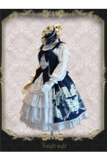Knight Night Halloween Carnival Cardigan Sweet Lolita Dress 3 Colors