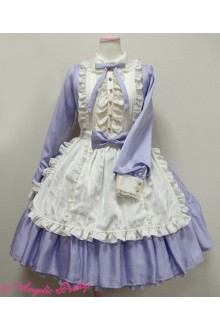 Princess Doll Collar High Waist Long Sleeves Sweet Lolita OP Dress 5 Colors