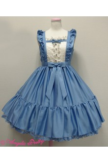 Snow Wizard Neverland Ranch Square Neck Sleeveless Princess Sweet Lolita JSK Dress 5 Colors
