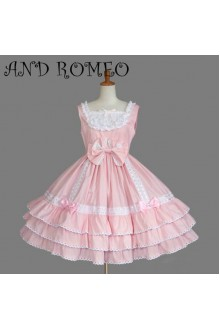 Princess Slim Square Collar Sleeveless Lace Cake Sweet Lolita JSK Dress Multicolor