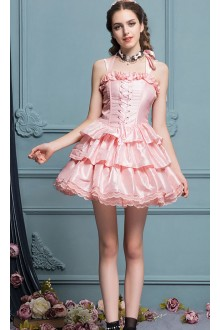 Pink Palace Gorgeous Sleeveless High Waist Sweet Lolita Tiered Dress