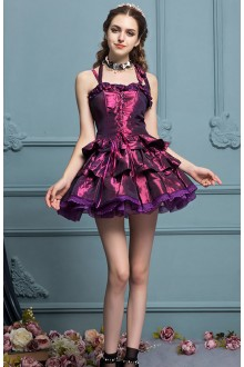 Purple Palace Gorgeous Sleeveless High Waist Sweet Lolita Tiered Dress