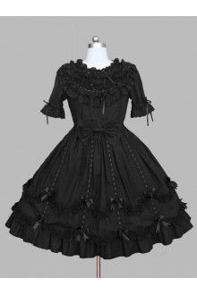 Black Dreamlike Lace Ball Gown Gothic Lolita Dress