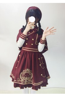 Wine Sweet Royal Academy Style Plaid Lolita Jumper Dress