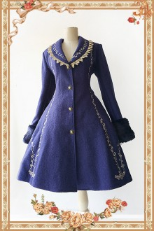 Infanta Cinderella Embroidery Lolita Coat 2 Colors
