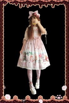 Infanta Squirrel's Romantic Life Original Printing Sweet Lolita JSK Dress 3 Colors