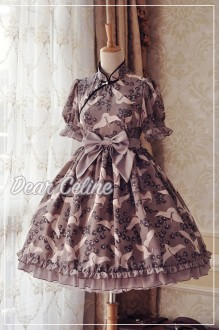 Dear Celine Chinese Style Stand Collar Cheongsam Short Sleeves Classic Lolita Dress