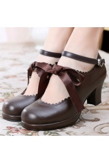 Sweet Princess Silk Ribbon Lolita Shoes 6 Colors