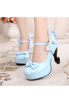 Sweet Princess Palace Banquet High Heel Lolita Shoes 6 Colors