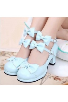 Sweet Princess Palace Bowknot Lolita Shoes 6 Colors