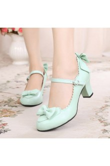 Sweet Bowknot Cone Lolita Shoes 8 Colors
