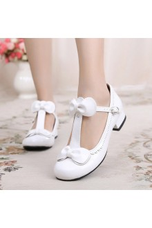 Sweet Dancing Bowknot Latin Lolita Shoes 8 Coliors