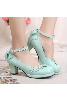 Sweet Petal Bowknot Lolita Shoes 4 Colors