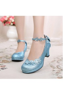 Sweet Petal Bowknot Crystal Lolita Shoes 2 Colors