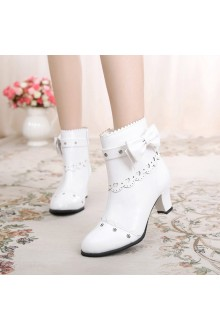 Sweet Bowknot Romantic Lolita Shoes 6 Colors