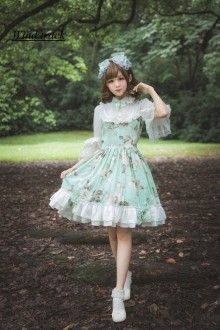Mint Green Flower Language Melody Sweet Lolita JSK Dress