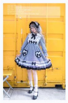 Black MILU Original Plaid Bowknot Sweet Lolita OP Dress