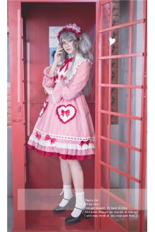 Red MILU Original Plaid Bowknot Sweet Lolita OP Dress