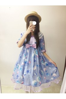 Purple Dream Shell Sweet Lolita OP Dress