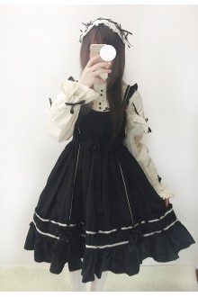 Vintage High Waist Doll Master Sweet Lolita Suspender JSK Dress