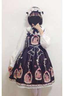 Black Squirrel Story Squirrel Printing Sweet Lolita JSK Dress