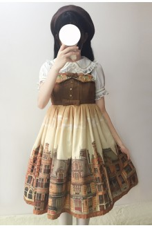 Sweet Houselet Printing Sweet Lolita Suspender JSK Dress