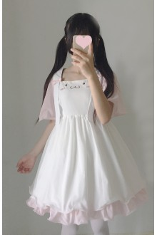 Tridimensional Loppy Eared Rabbit Chiffon Sweet Lolita Dress