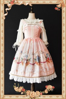 Pink Infanta Mermaid Printing Sweet Lolita JSK Dress