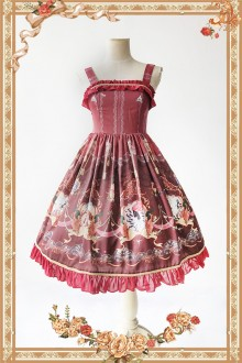 Wine Infanta Mermaid Printing Sweet Lolita JSK Dress