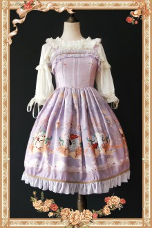 Violet Infanta Mermaid Printing Sweet Lolita JSK Dress