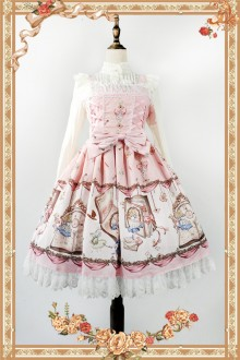Light Pink Infanta Alice Mysterious Book Sweet Lolita JSK Dress