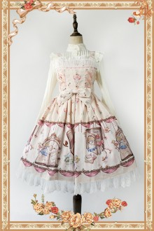 Apricot Infanta Alice Mysterious Book Sweet Lolita JSK Dress
