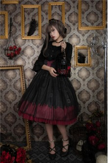 Dying Swan Hot Silver Gothic Lolita SK 3 Colors