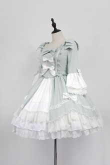 Grass Green Neverland Barrer's Dancing Party Sweet Lolita OP Dress