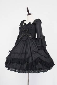 Black Neverland Barrer's Dancing Party Sweet Lolita OP Dress