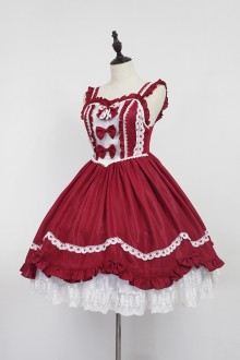 Red Neverland Barrer's Dancing Party Sweet Lolita JSK Dress