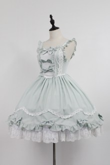 Grass Green Neverland Barrer's Dancing Party Sweet Lolita JSK Dress
