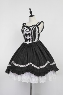 White & Black Neverland Barrer's Dancing Party Sweet Lolita JSK Dress
